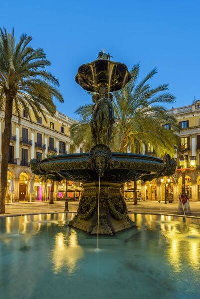 Plaza Real or Placa Reial Barcelona